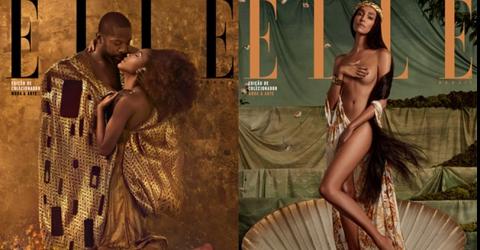 Revista Elle Brasil recriou 5 obras de arte com personalidades para a edição de dezembro