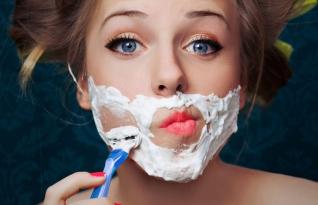 Barbear-se pode fazer bem a pele de mulheres